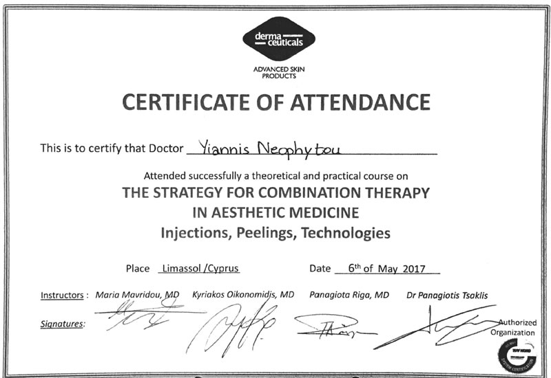 Course on the stragety for combination therapy in Aesthetic Medicine